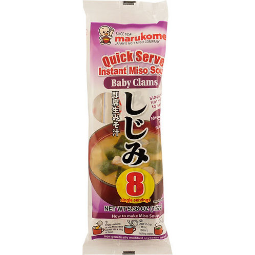 Marukome Instant Baby Clam Miso Soup