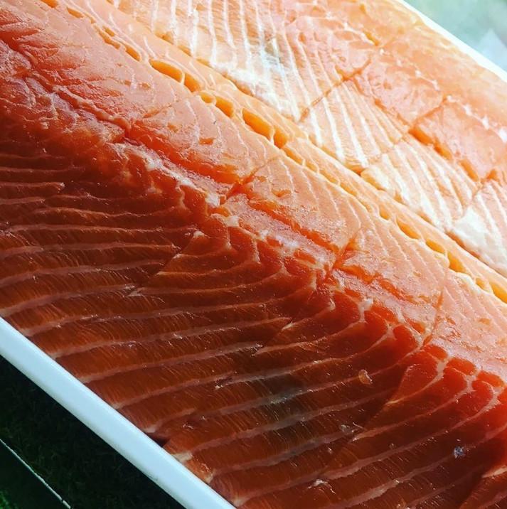 Sushi-grade seafood