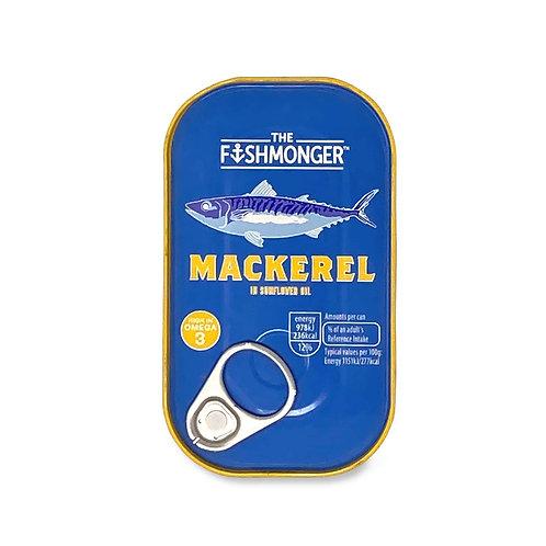 The Fishmonger Mackerel In Sunflower Oil