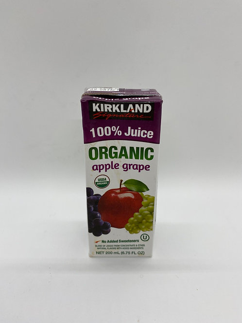 Kirkland Organic Apple Grape Juice Box