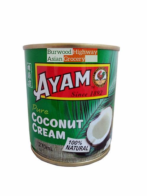 Pure Coconut Cream 100% Natural Ayam