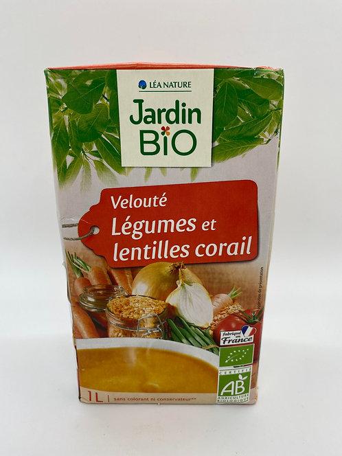 Jardin Bio Velouté Of Vegetables and Coral Lentils