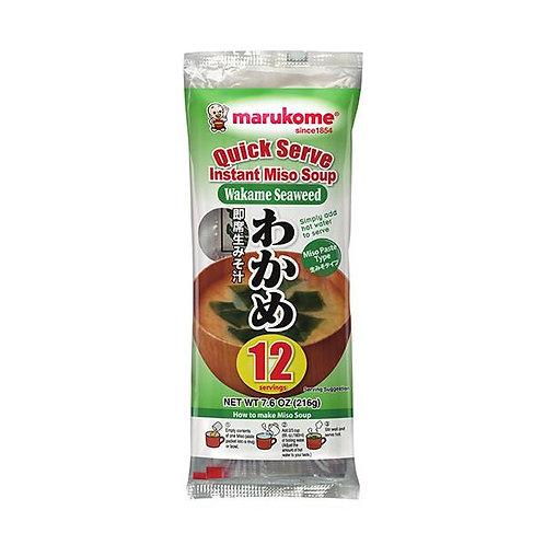 Marukome Instant Wakame Seaweed Miso Soup