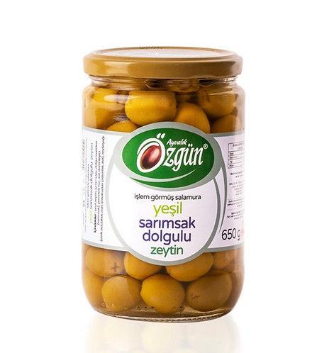 Garlic Stuffed Brined Green Olives