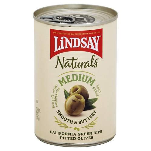 Lindsay Medium Green Ripe Pitted Olives