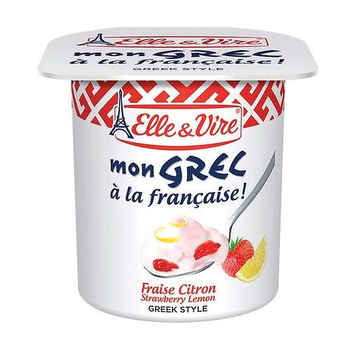 Elle & Vire Mon Grec Strawberry Lemon Yogurt
