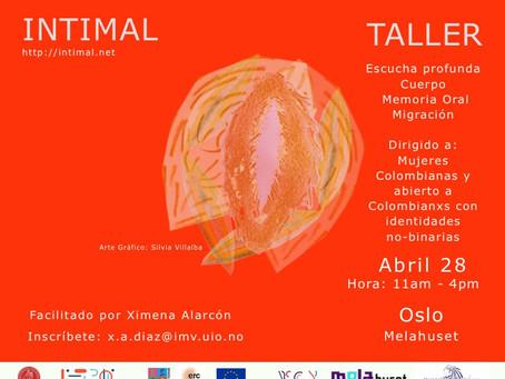 Taller INTIMAL en Oslo, Abril 28, 2019