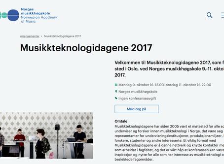 Presenting at Musikkteknologidagene 2017