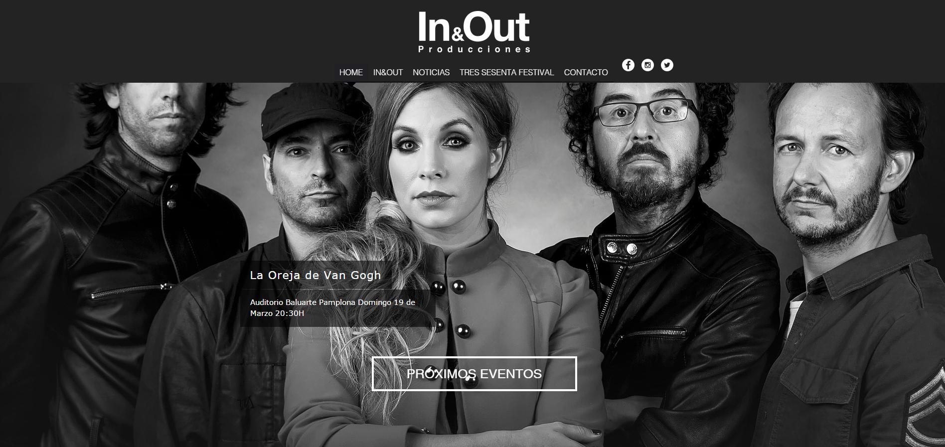 Web IN&OUT Producciones