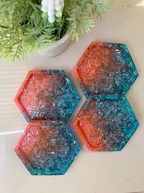 Dual Color Coasters
