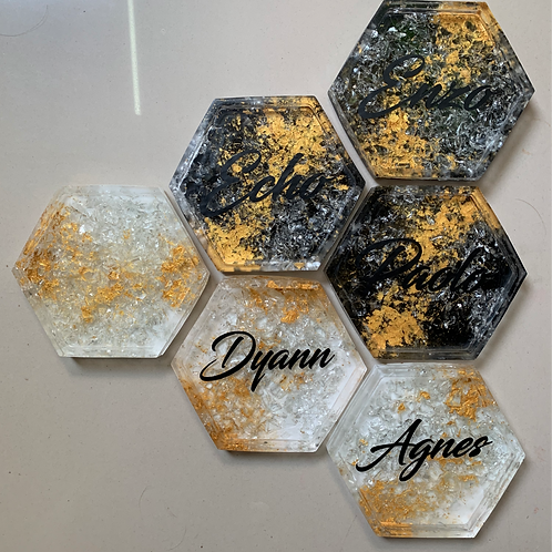 Personalized Artisan Gold Coasters
