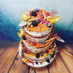 Naked cake automnal , felicitations et m