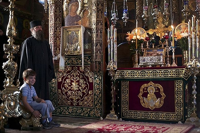 Икона «Всецарица»; монастырь Ватопед, Афон. Фото с сайта orthodoxpantry.blogspot.ru