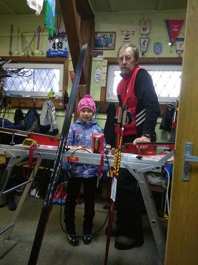 Будущая звездочка лыжного спорта