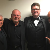 L-R: Tom Ranier, Check Berghofer, CH, Peter Erskine.  This was after Seth MacFarlane's appearance with the Nashville Symphony.