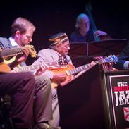 Playing a concert honoring the great Calvin Newborn.  L-R:  Gerard Harris, John Bass, Calvin Newborn, Tim Goodwin (bass), CH.  Not pictured: Charlton Johnson (guitar) & Tom Lonardo (drums).