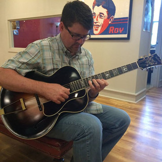 Playing Carl Kress's restored L5 prototype at Gruhn Guitars.