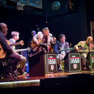 Playing a concert honoring the great Calvin Newborn.  L-R:  Gerard Harris, John Bass, Calvin Newborn, Tim Goodwin (bass), CH, Charlton Johnson.    Not pictured: Tom Lonardo (drums).
