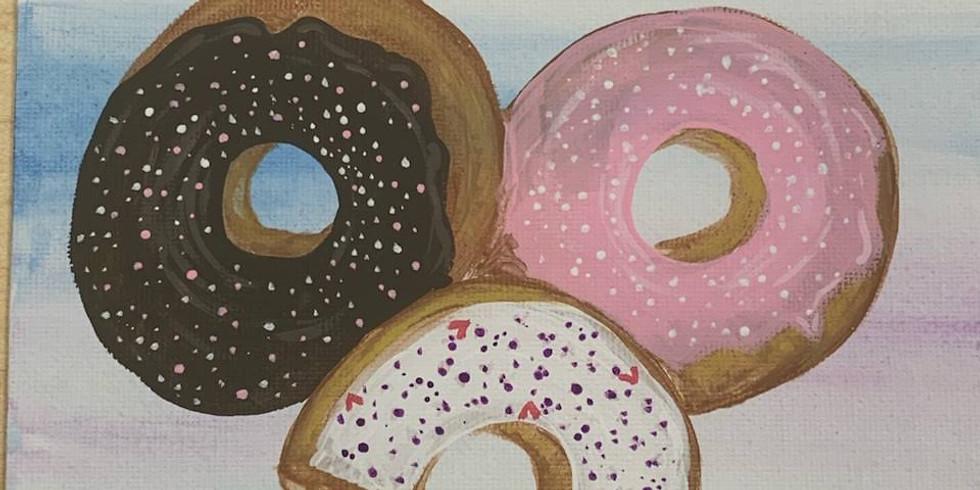 Donut Worry Paint Night