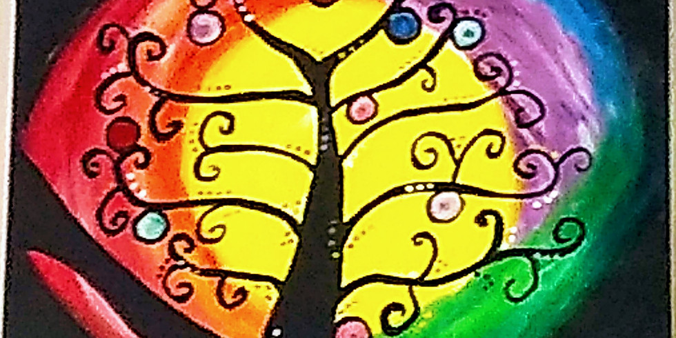 Rainbow Tree Paint Event