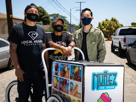 Local Hearts Foundation raises $10k for street vendor - featured on Univision 34 and Telemundo 52