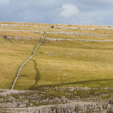 Geological and man made lines on the landscape