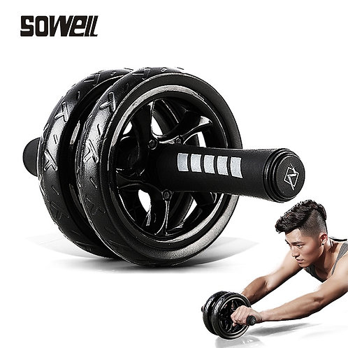 Double Wheel Abdominal Power Wheel Ab Roller Gym Roller Trainer Training
