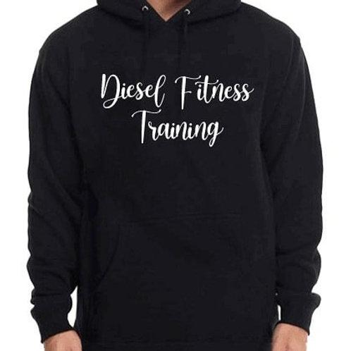 Diesel Fitness Training Hoodie Cursive White
