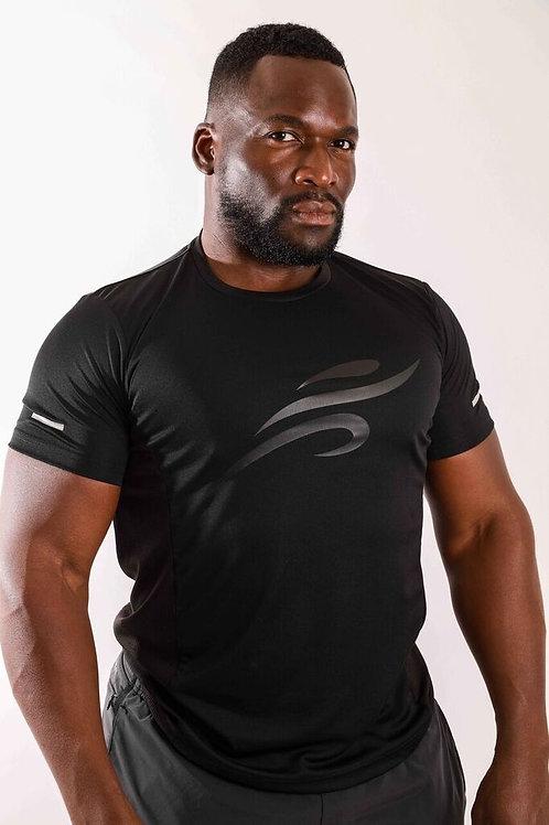 Robert Short Sleeve Shirt With Reflective Logo - Black