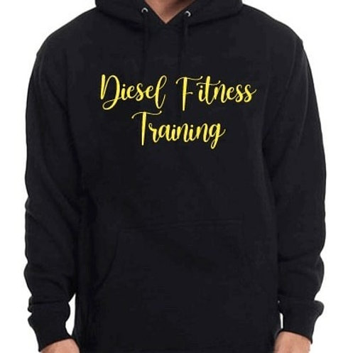 Diesel Fitness Training Hoodie Cursive Yellow