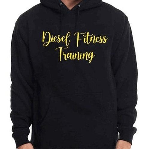 Diesel Fitness Training Hoodie Cursive Yellow