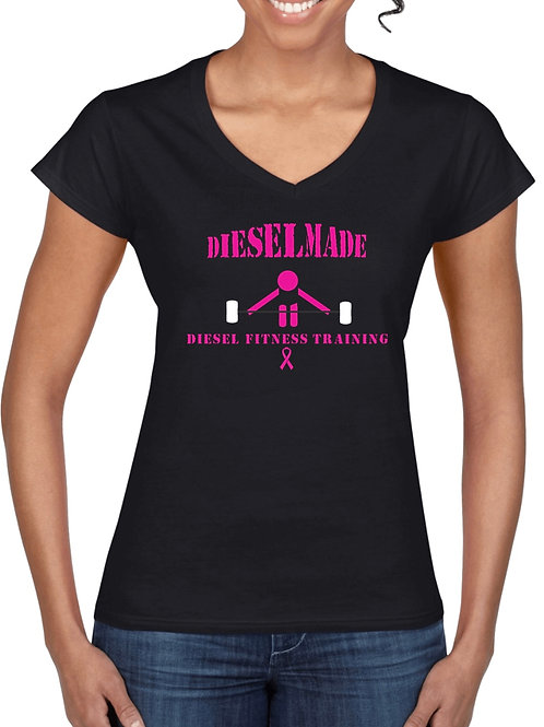 Women's V-neck Barbell Pink