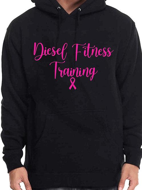 Diesel Fitness Training Hoodie Cursive Pink