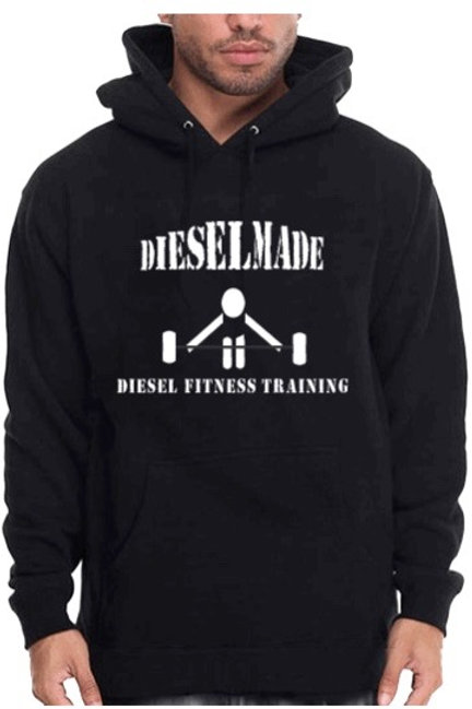 Diesel Made Hoodie Barbell White