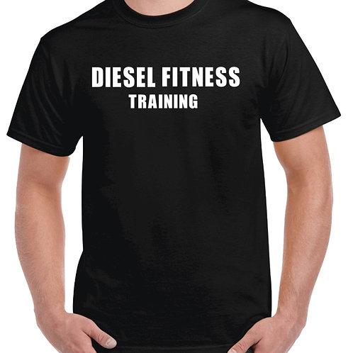 Men's Workout T-shirt Block White