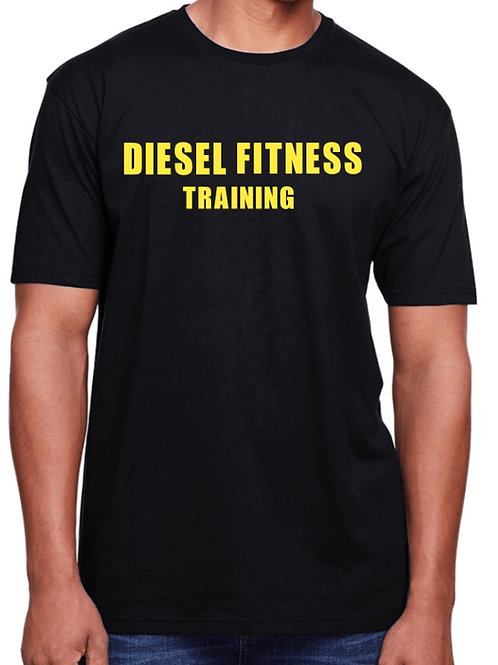 Men's Workout T-shirt Block Yellow