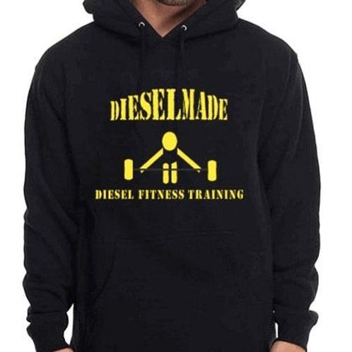 Diesel Made Hoodie Barbell Yellow