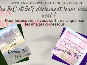 Printemps des poètes : les 5eC et 5eF déclament leurs vers ... en vert !