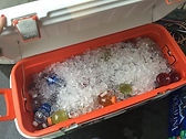 We supply ice and drinks