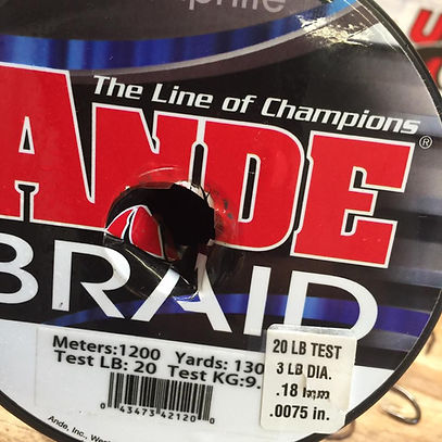 Ande braid and flourocarbon