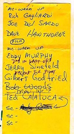 Show set-list