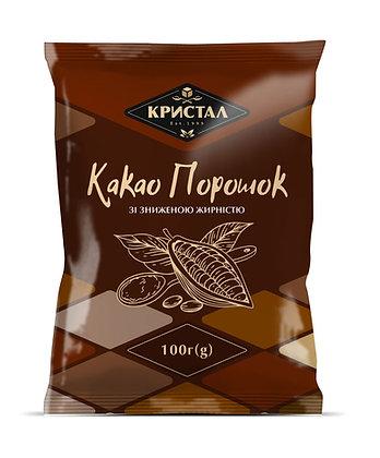 Какао порошок зі зниженою жирністю 100 г (g)