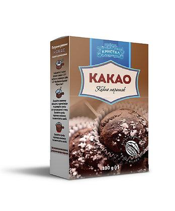 "Какао порошок ""Кристал"" картонна упаковка 100 г (g)"