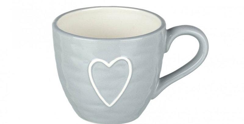 Blue Mug with heart detail