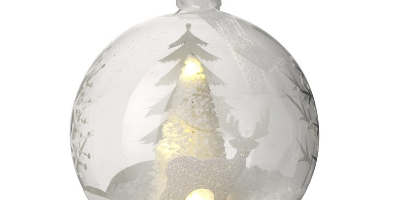 Magical winter forest LED Bauble