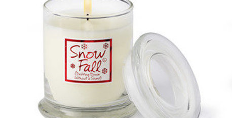 Lily Flame Snow Fall Scented Jar Candle
