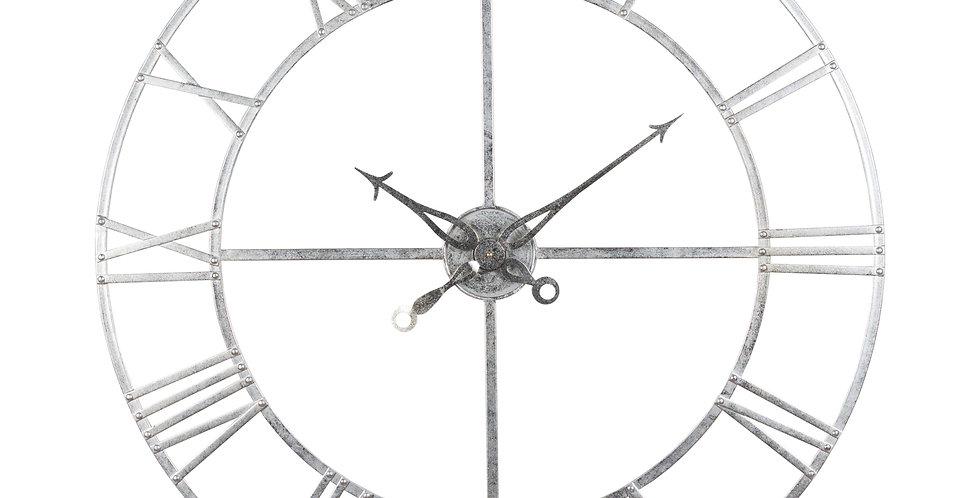 Large Silver Foil Skeleton Wall Clock