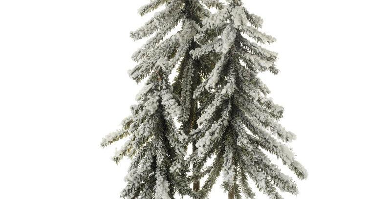 Snowy Triple Christmas Tree