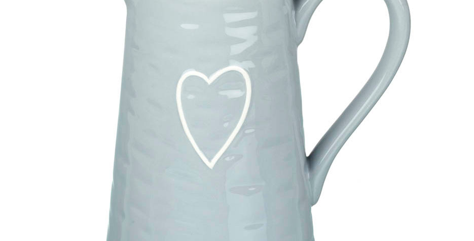 Blue Jug with Heart detail