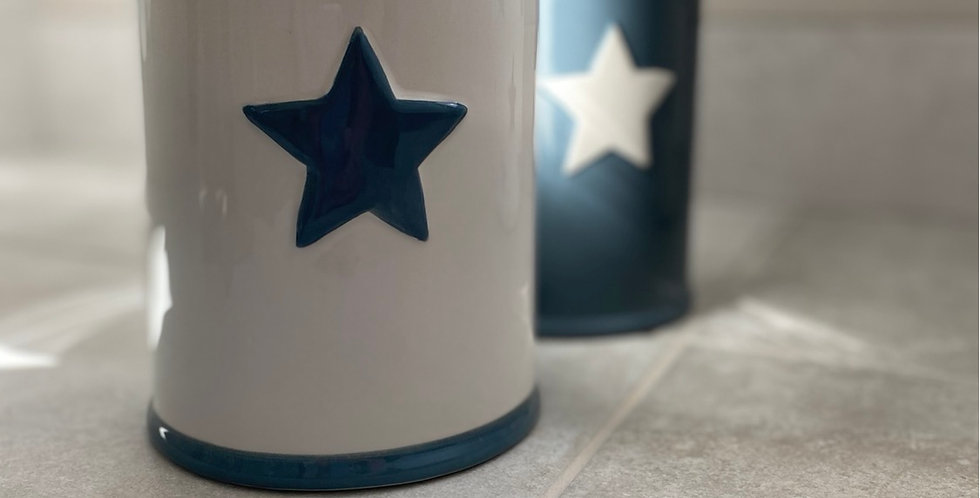 Star Cookie Jar white